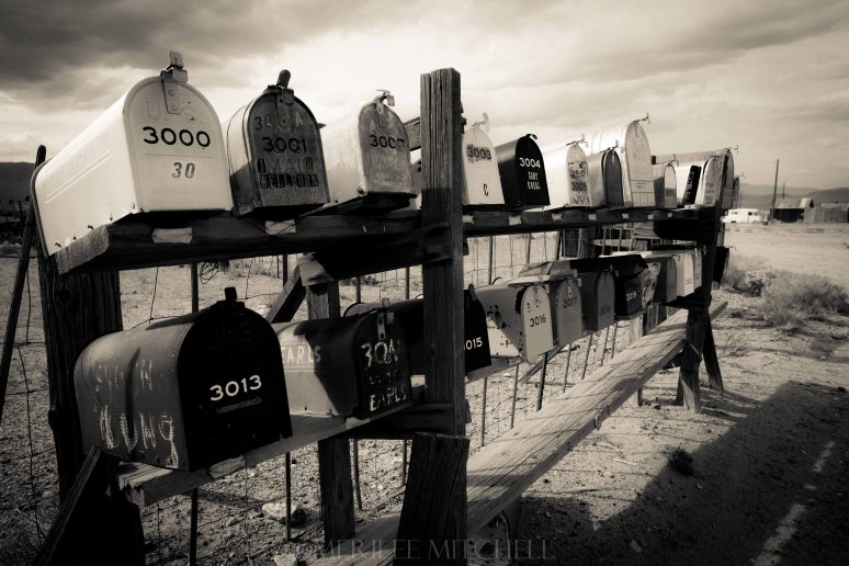 Mailboxes. Copyright Merilee Mitchell