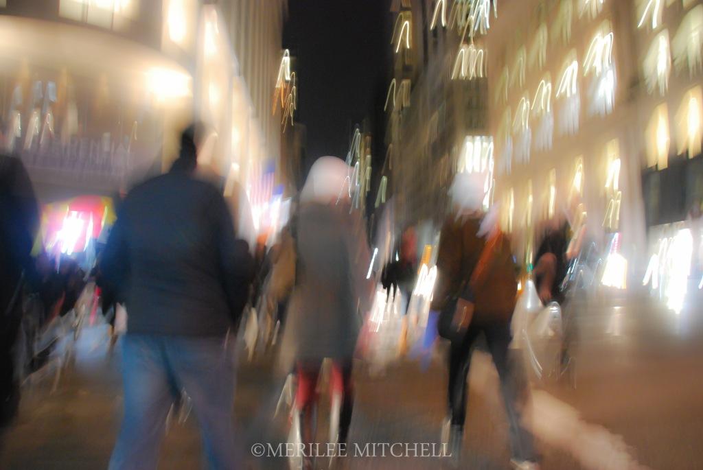 Night Walk. Copyright Merilee Mitchell