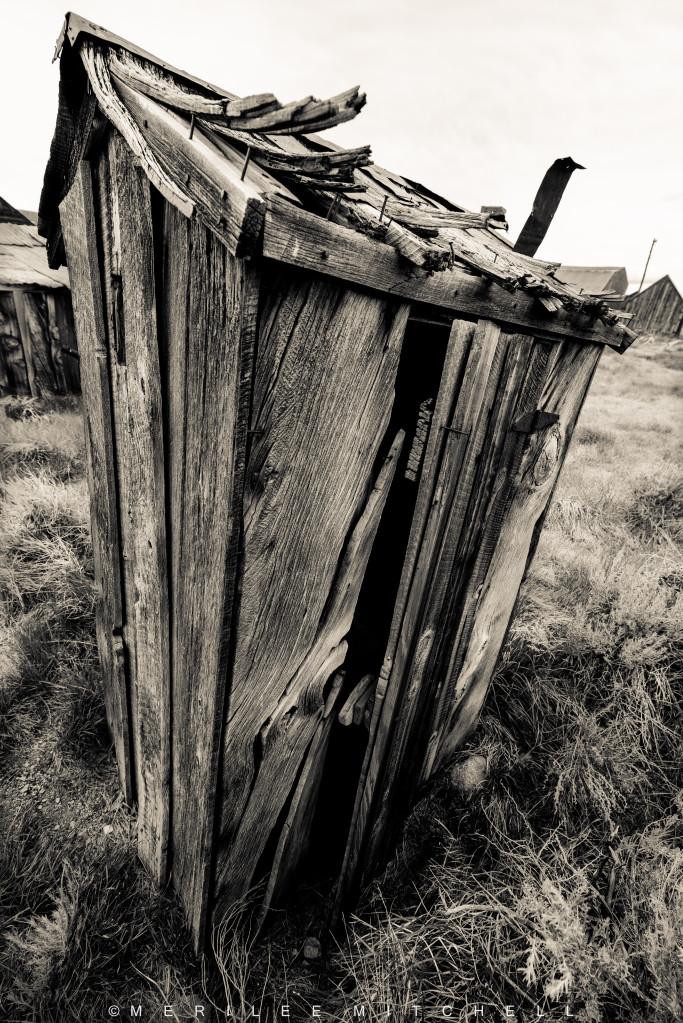 Outhouse.  Copyright Merilee Mitchell