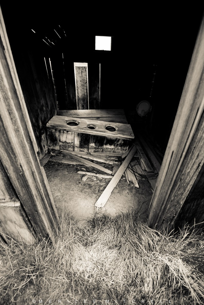 Outhouse Interior. Copyright Merilee Mitchell