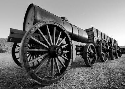 Borax Wagons with Moon. Copyright Merilee Mitchell - 2-1