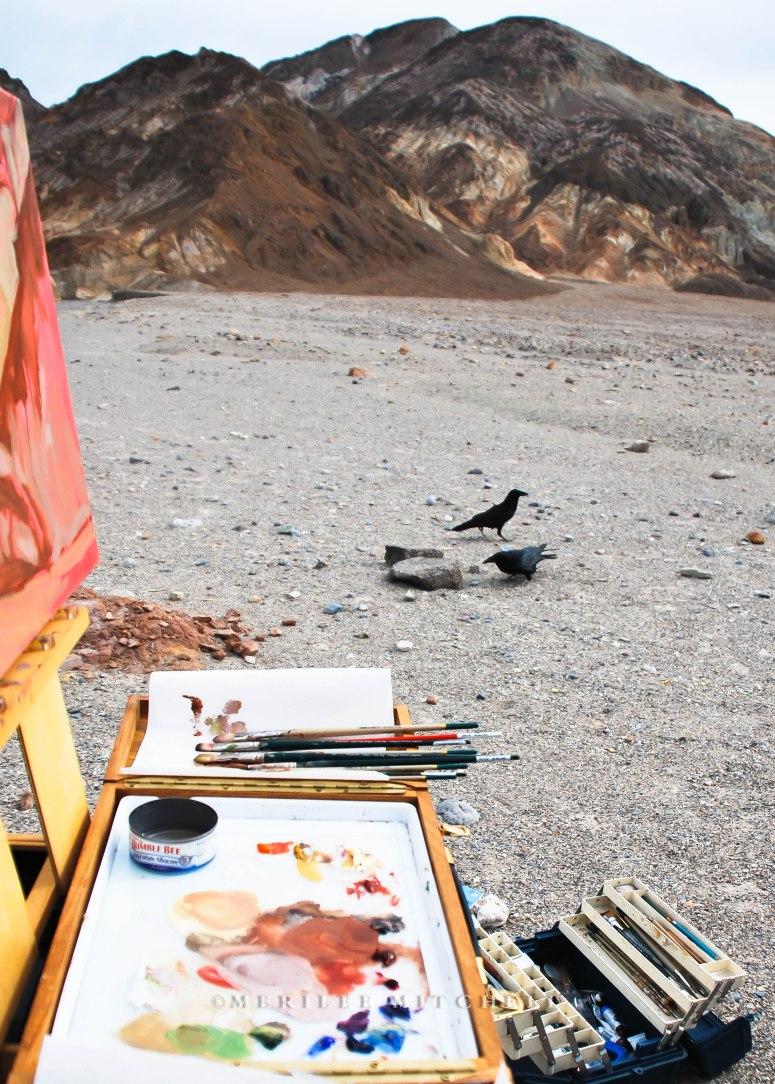 Lurking Ravens. Copyright Merilee Mitchell 2009